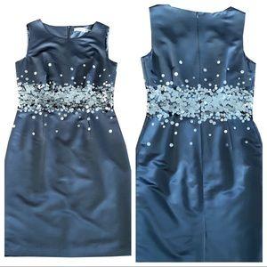 Calvin Klein Navy Blue Sequin Dress Size 8
